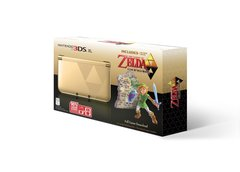 System: 3DS XL Gold/Black - Limited Edition Bundle with The Legend of Zelda: A Link Between Worlds
