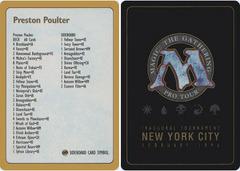 1996 Preston Poulter Decklist Card
