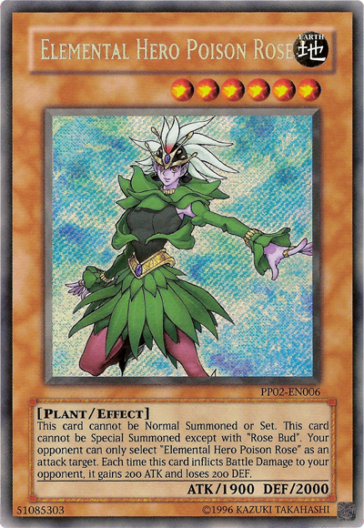 Elemental Hero Poison Rose - PP02-EN006 - Secret Rare - Unlimited Edition