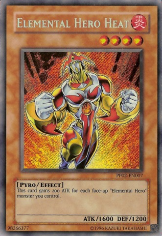 Elemental Hero Heat - PP02-EN007 - Secret Rare - Unlimited Edition