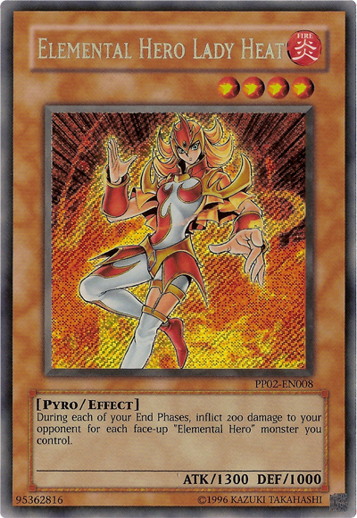 Elemental Hero Lady Heat - PP02-EN008 - Secret Rare - Unlimited Edition