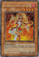 Elemental Hero Lady Heat - Secret Rare - PP02-EN008 - Secret Rare - Unlimited