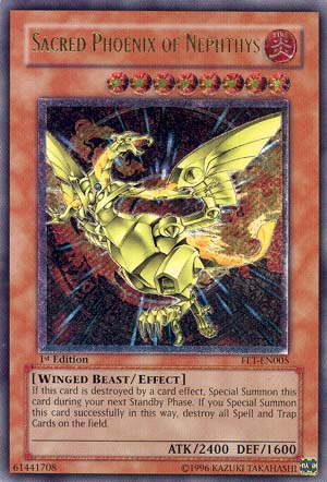 Sacred Phoenix of Nephthys - FET-EN005 - Ultimate Rare - 1st Edition