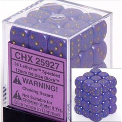 36 Lathyrus Speckled 12mm D6 Dice Block - CHX25927