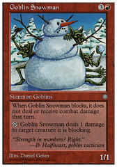 Goblin Snowman on Channel Fireball