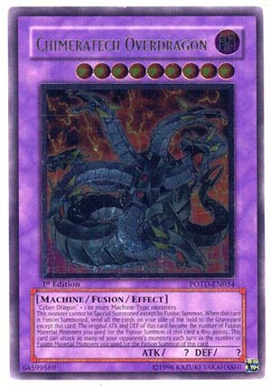 Chimeratech Overdragon - POTD-EN034 - Ultimate Rare - 1st Edition