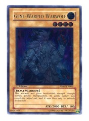 Gene-Warped Warwolf - Ultimate - STON-EN001 - Ultimate Rare - 1st