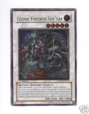 Cosmic Fortress GolGar - CRMS-EN044 - Ultimate Rare - 1st Edition