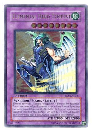 Elemental Hero Tempest - EEN-EN034 - Ultimate Rare - 1st Edition
