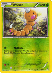 Weedle - 1/160 - Common - Reverse Holo