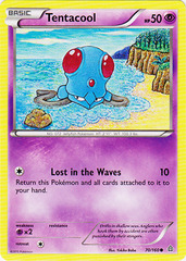 Tentacool - 70/160 - Common on Channel Fireball