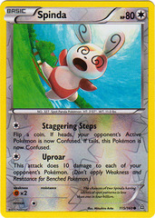 Spinda - 115/160 - Common - Reverse Holo on Channel Fireball