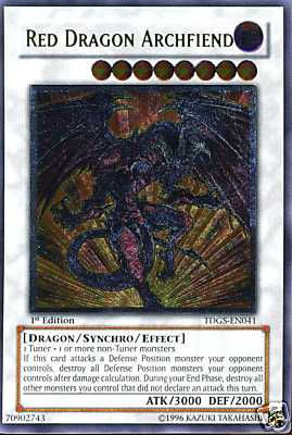 Red Dragon Archfiend - TDGS-EN041 - Ultimate Rare - 1st Edition