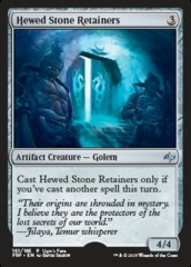 Hewed Stone Retainers on Channel Fireball