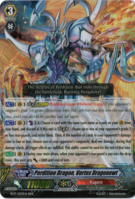 Perdition Dragon, Vortex Dragonewt - BT17/003EN - RRR