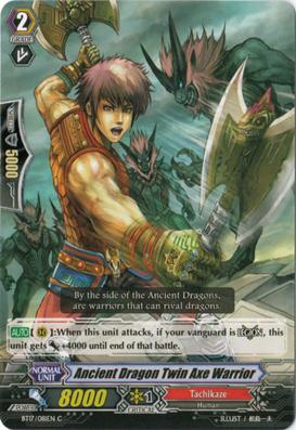Ancient Dragon Twin Axe Warrior - BT17/081EN - C
