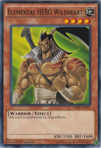 Elemental HERO Wildheart - SDHS-EN011 - Common - 1st Edition