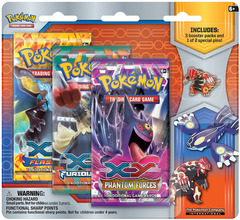 Pokemon XY5 Primal Clash 3-Booster Blister Pack - Groudon Pin