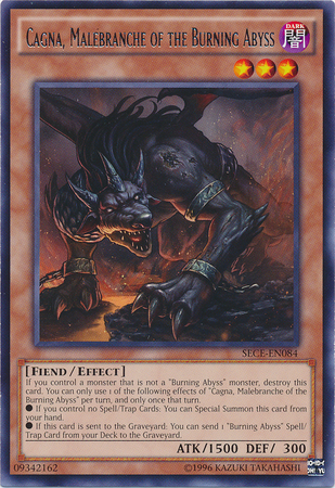 Cagna, Malebranche of the Burning Abyss - SECE-EN084 - Rare - Unlimited Edition