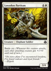 Loxodon Partisan on Channel Fireball