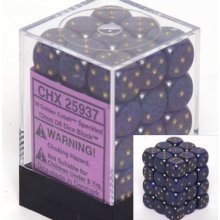 36 Cobalt Speckled 12mm D6 Dice Block - CHX25907