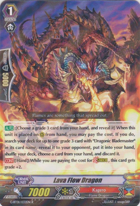 Lava Flow Dragon G Bt01032en R Cardfight Vanguard Singles