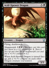 Acid-Spewer Dragon - Foil on Channel Fireball