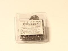 10 Translucent Smoke w/white D10 Dice Set - CHX23208