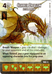 Copper Dragon - Lesser Dragon (Die & Card Combo)