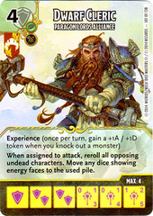 Dwarf Cleric - Paragon Lords Alliance (Die & Card Combo)