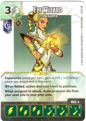 Elf Wizard - Lesser Harper (Die & Card Combo)