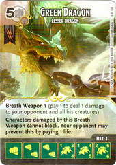 Green Dragon - Lesser Dragon (Die & Card Combo)