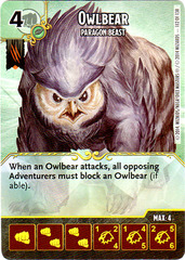 Owlbear - Paragon Beast (Die & Card Combo)