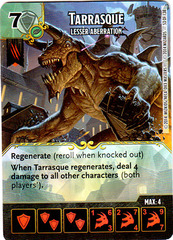 Tarrasque - Lesser Aberration (Die & Card Combo)