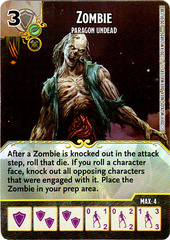 Zombie - Paragon Undead (Die & Card Combo)