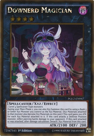 Downerd Magician - PGL2-EN047 - Gold Rare - 1st Edition