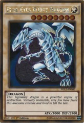 Blue-Eyes White Dragon - PGL2-EN080 - Gold Rare - 1st Edition on Channel Fireball