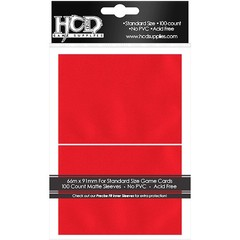 HCD Standard Matte Red Card Sleeves 100 ct