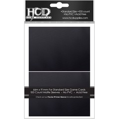 HCD Standard Matte Black Card Sleeves 100 ct