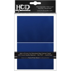 HCD Standard Matte Blue Card Sleeves 100 ct