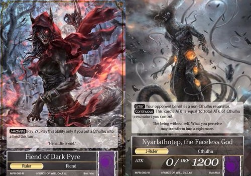 Fiend of Dark Pyre // Nyarlathotep, the Faceless God - MPR-080 - R - 1st Printing