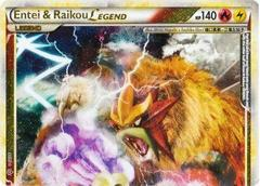 Entei and Raikou LEGEND (Top) - 90/95 - Rare Holo Legend on Channel Fireball