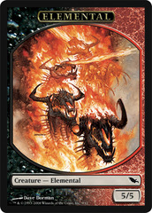 Elemental Token - Black/Red