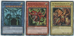 Set of Egyptian God Cards (Obelisk, Ra, Slifer) - Ultra Rare - Limited Edition