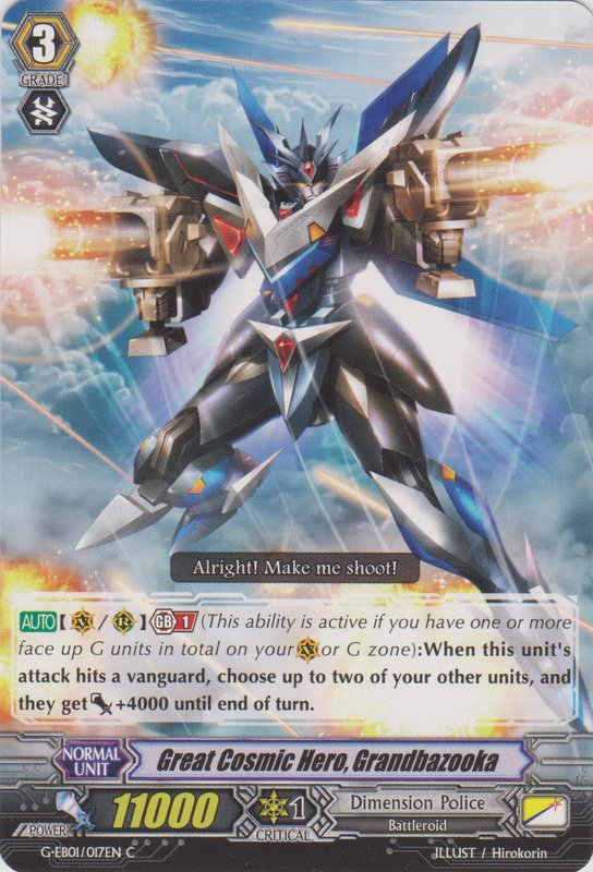 Great Cosmic Hero, Grandbazooka - G-EB01/017EN - C