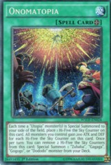 Onomatopia - WSUP-EN024 - Prismatic Secret Rare - 1st Edition