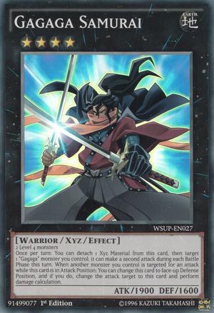 Gagaga Samurai - WSUP-EN027 - Super Rare - 1st Edition