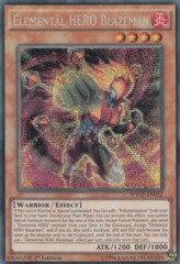 Elemental HERO Blazeman - WSUP-EN032 - Prismatic Secret Rare - 1st Edition on Channel Fireball