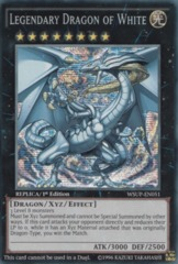 Legendary Dragon of White - WSUP-EN051 - Prismatic Secret Rare - 1st Edition on Channel Fireball