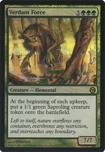 Verdant Force - Foil Duels of the Planeswalkers Rare